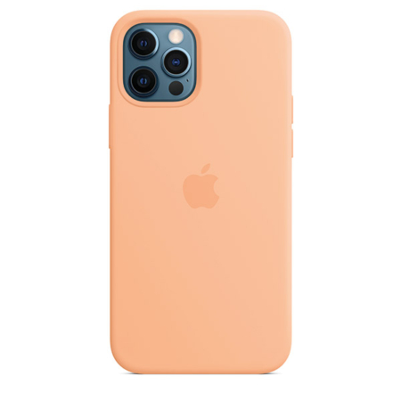 Funda de silicona iPhone 12 y iPhone 12 Pro cantalupo