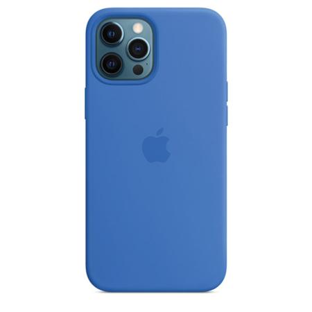 Funda de silicona iPhone 12 Pro Max Azul Capri