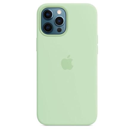 Funda de silicona iPhone 12 Pro Max Pistacho