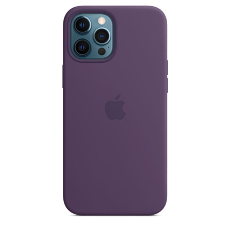 Funda de silicona iPhone 12 Pro Max Amatista