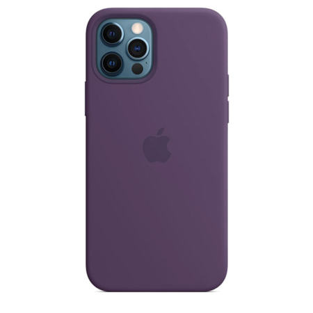 Funda de silicona iPhone 12 y iPhone 12 Pro Amatista
