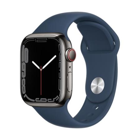 Apple Watch Series 7 Acero Grafito Correa Azul