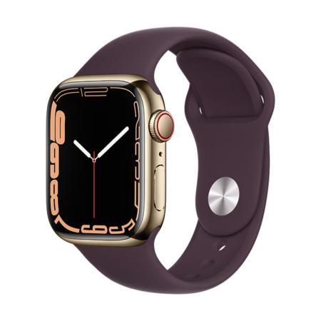 Apple Watch Series 7 Acero Dorado Correa Cereza