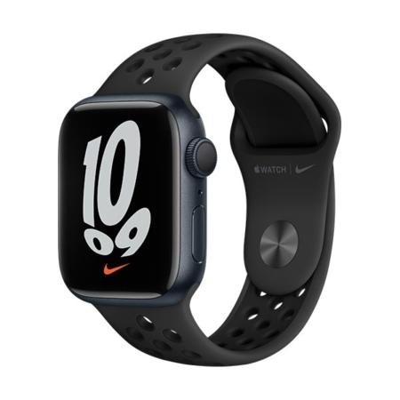 Apple Watch Nike Series 7 Medianoche correa negra