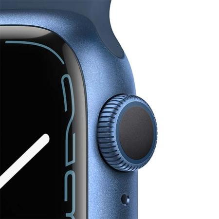 Apple Watch Series 7 Aluminio Azul correa deportiva azul