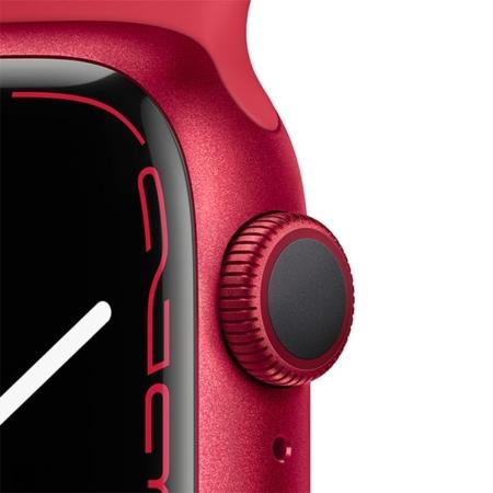 Apple Watch Series 7 Aluminio rojo con correa deportiva roja