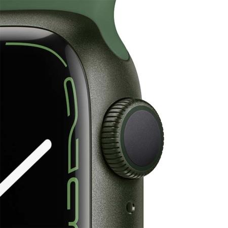 Apple Watch Series 7 Aluminio verde con correa deportiva verde