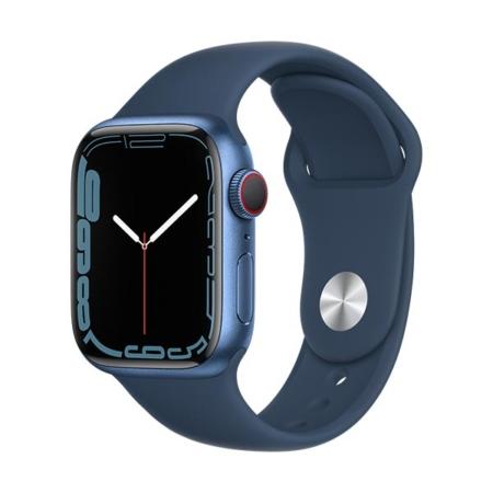 Apple Watch Series 7 aluminio cell azul con correa deportiva azul