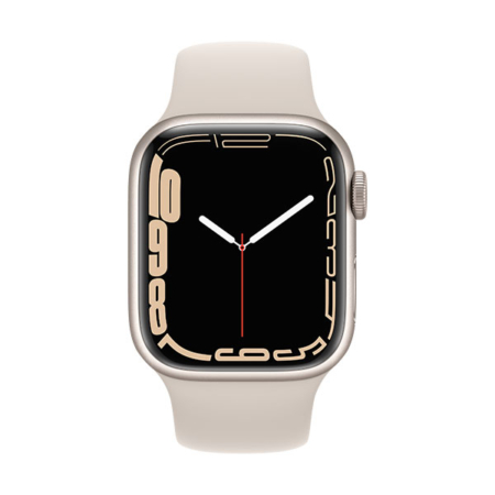 Apple Watch Series 7 aluminio cell blanco estrella con correa deportiva blanco estrella