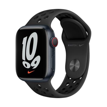 Apple Watch Series 7 Nike Cell Medianoche con correa negra