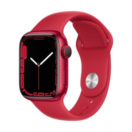 Apple Watch Series 7 aluminio cell rojo con correa deportiva roja