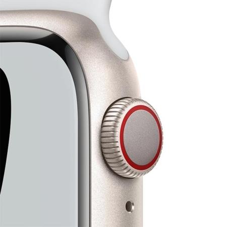 Apple Watch Series 7 Nike cell Blanco estrella correa platino negra